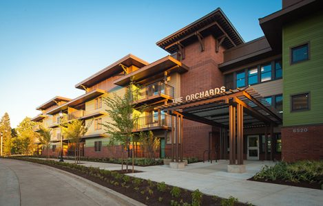 Orchards at Orenco featuring EuroLine Windows